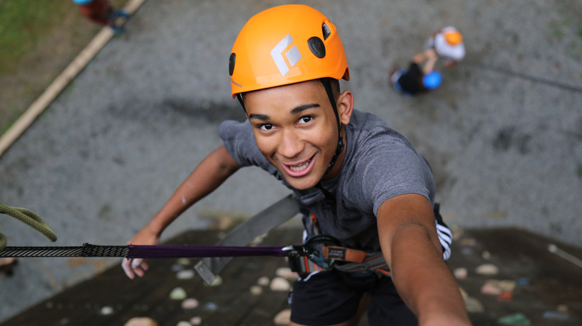 Boys Rock Climbing Camp