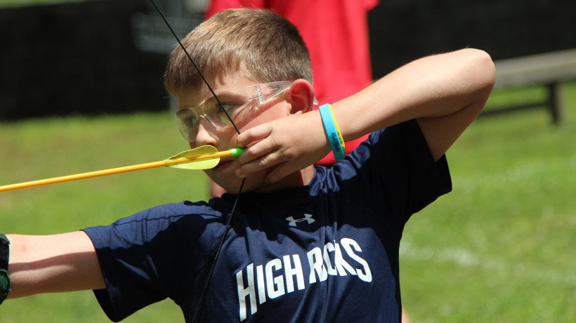 Archery at Boys Camp