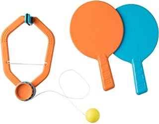 ping pong paddles and door frame ball holder