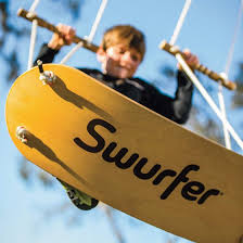 boy swinging on a swurfer swing - active gift guide