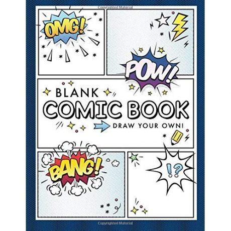 """Blank Comic Book cover photo with """"pow"""", """"bang"""", or """"omg""""."""
