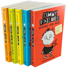 5 Books of the Meet Timmy Failure Series laid out.