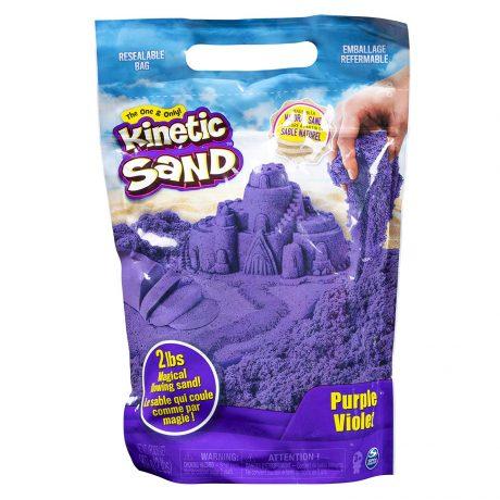 Kinetic Sand packaging in purple