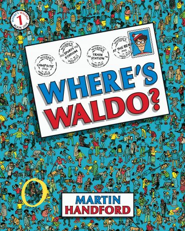 Front Cover of Where's Waldo Book, great indoor games - gift idea