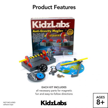 Kids Labz box and toys displayed for tech gifts