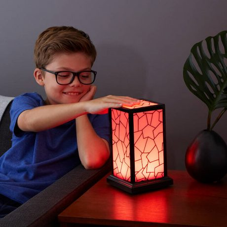 Tech Gift - Connect Lamps, Young Boy with lamp overhand