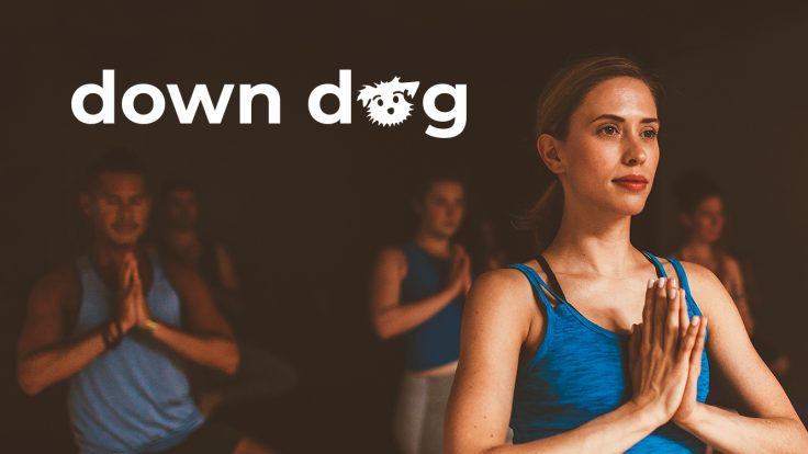 Women holding yoga pose from Down Dog Yoga.
